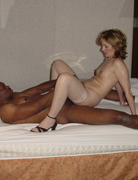 Horny blonde getting some hot latino loving.